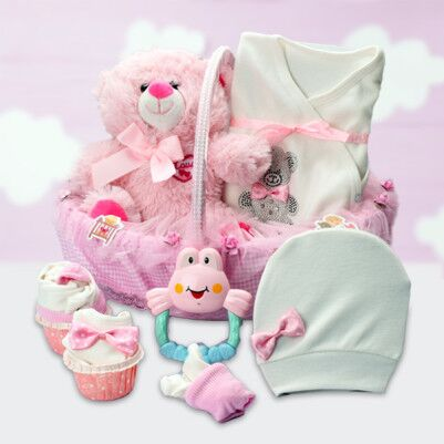 Kız Bebeklere Özel Şık Hediye Sepeti - Thumbnail