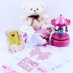 Kız Bebeklere Sevimli Hediye Sepeti - Thumbnail