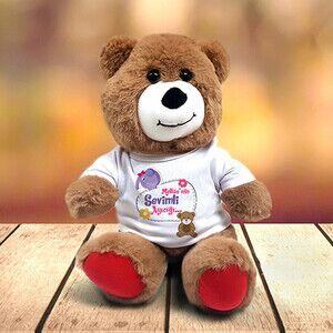 Kız Çocuklara Özel Oyuncak Pelüş Ayıcık - Thumbnail