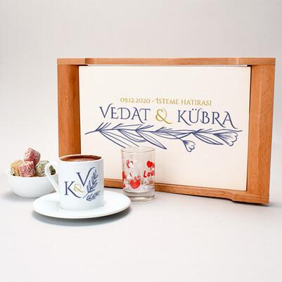 Kız İsteme Hatırası Damat Kahve Sunum Seti - Thumbnail