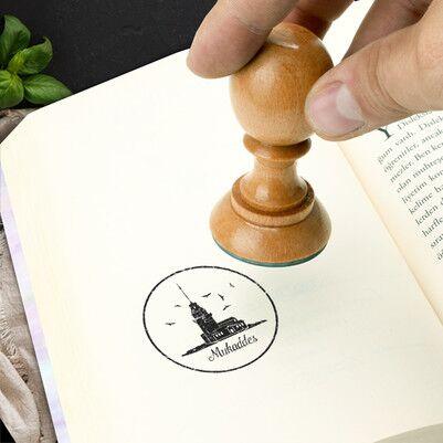 - Kız Kulesi İsme Özel Kitap Damgası