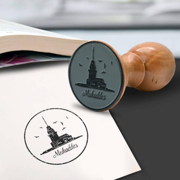 Kız Kulesi İsme Özel Kitap Damgası