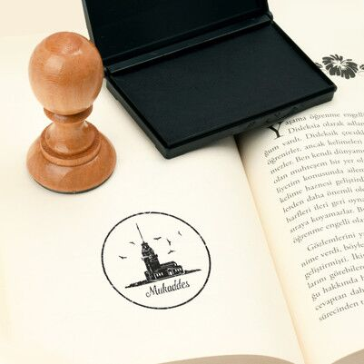 Kız Kulesi İsme Özel Kitap Damgası - Thumbnail