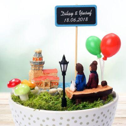 Kız Kulesi ve Aşkımız Temalı Minyatür Bahçe - Thumbnail
