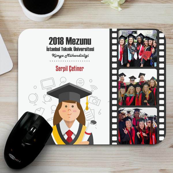 Kızlara Özel Mezuniyet Hediyesi Mousepad