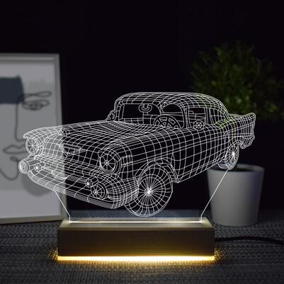 - Klasik Antika Araba Tasarımlı 3d Led Lamba