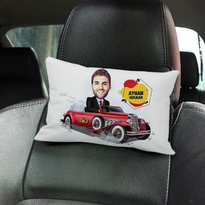 - Klasik Araba Karikatürlü Koltuk Yastığı