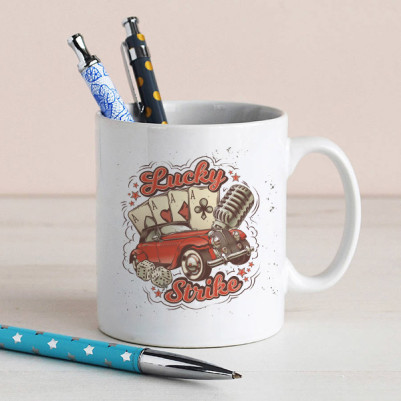 - Klasik Araba Temalı Kahve Kupası