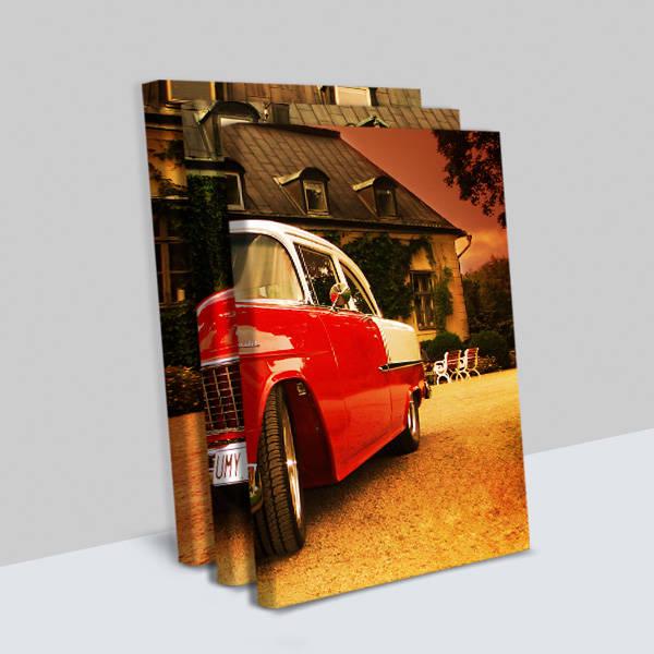 Klasik Chevrolet 3 Parça Kanvas Tablo