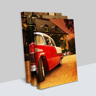 Klasik Chevrolet 3 Parça Kanvas Tablo - Thumbnail