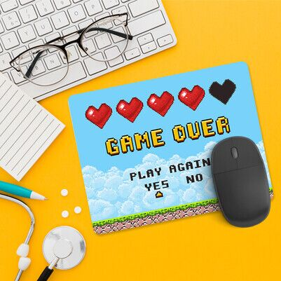 Klasik Game Over Mousepad - Thumbnail