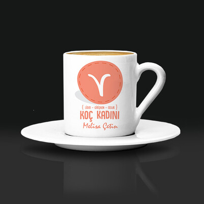 - Koç Burcu Kadınına Hediye Kahve Fincanı