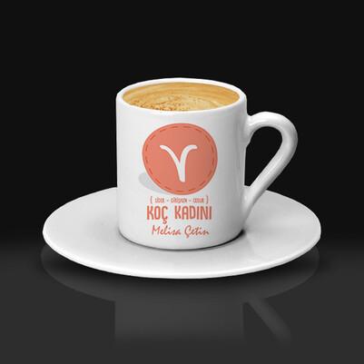 Koç Burcu Kadınına Hediye Kahve Fincanı - Thumbnail