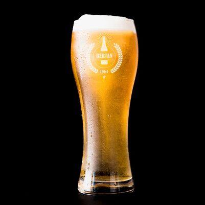 - Kocaya Hediye İsimli Uzun Bira Bardağı