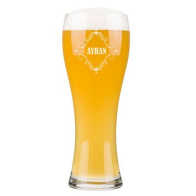 - Kocaya Hediye İsme Özel Uzun Bira Bardağı