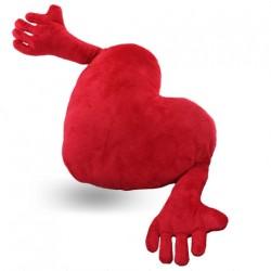 - Kollu Kırmızı Kalp Yastık 90 cm