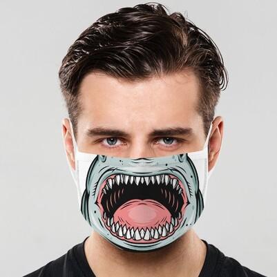 - Köpek Balığı Dişleri Ağız Maskesi