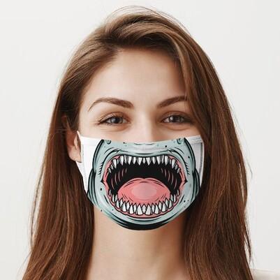 Köpek Balığı Dişleri Ağız Maskesi - Thumbnail