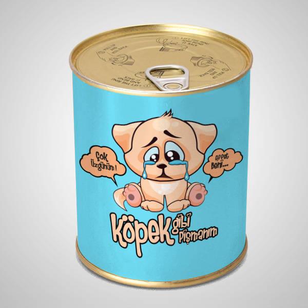 Köpek Gibi Pişmanım Çikolata Konservesi