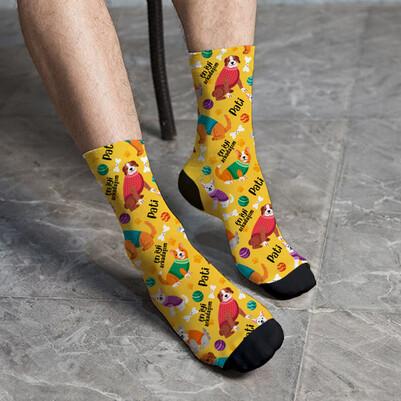 - Köpek Sahibi Arkadaşa Özel Çorap