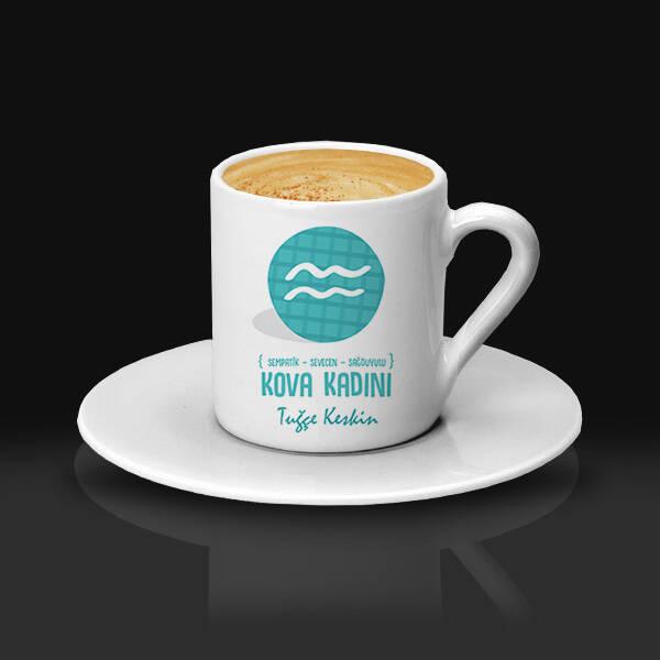 Kova Burcu Kadınına Hediye Kahve Fincanı