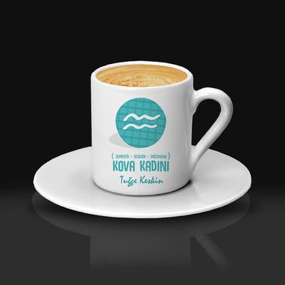 Kova Burcu Kadınına Hediye Kahve Fincanı - Thumbnail