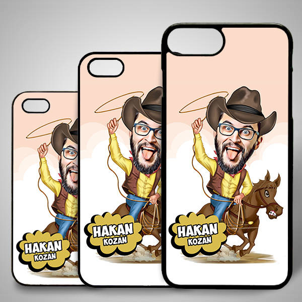 Kovboy Adam Karikatürlü Iphone Kapak