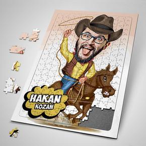 - Kovboy Karikatürlü Puzzle