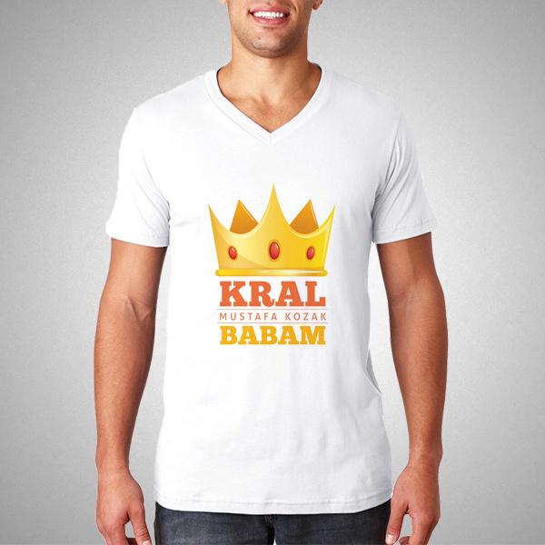 Kral Babam İsme Özel Tişört