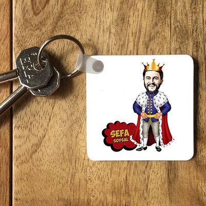 - Kral Karikatürlü Anahtarlık