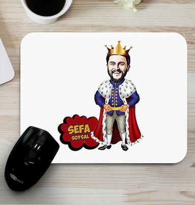 - Kral Karikatürlü Mouse Pad