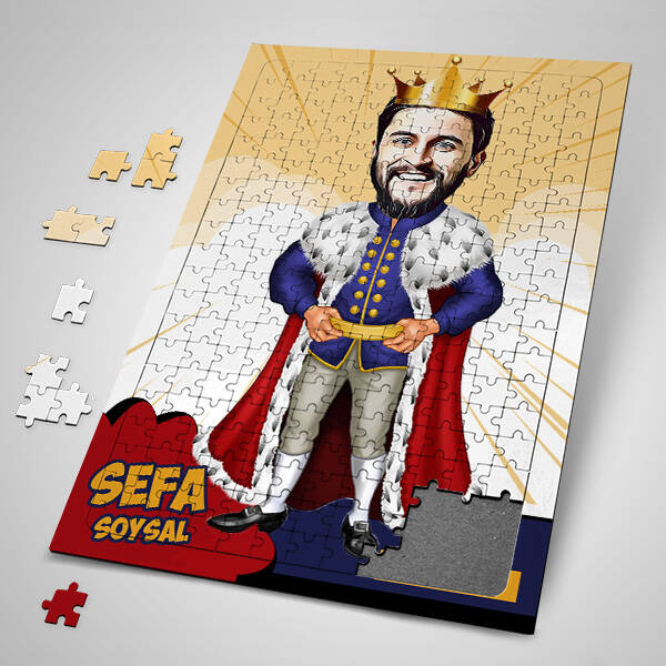 Kral Karikatürlü Puzzle