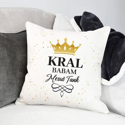 Kral Kayınpederim İsme Özel Yastık - Thumbnail