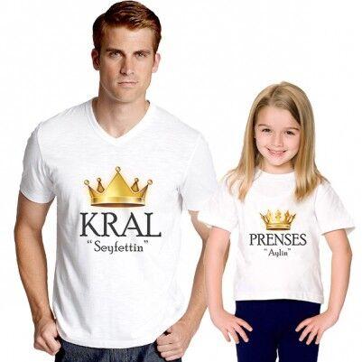 - Kral ve Prenses İkili Tişörtleri