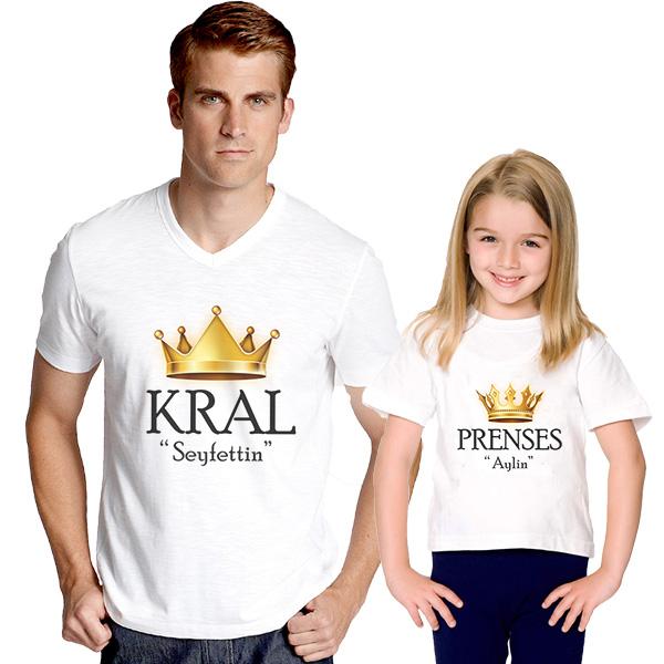 Kral ve Prenses İkili Tişörtleri