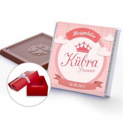 - Kraliçe Taçlı Kız Bebek Çikolatası