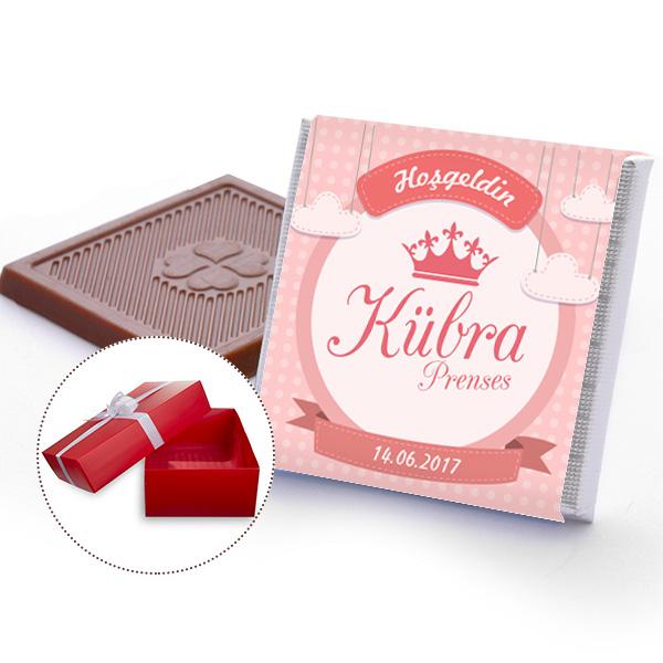 Kraliçe Taçlı Kız Bebek Çikolatası