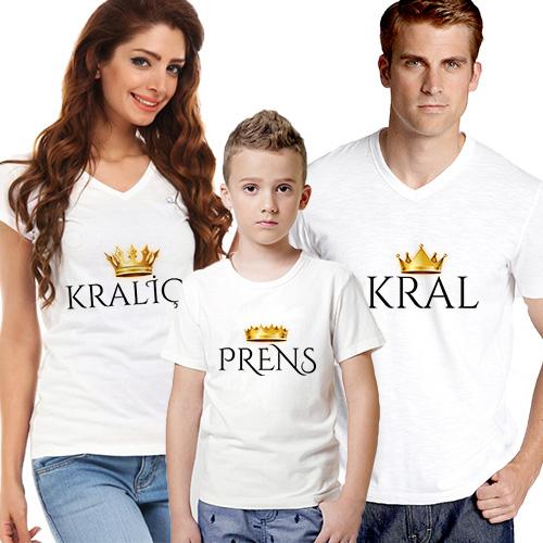 Kraliyet Ailesi 3'lü Tişört Seti