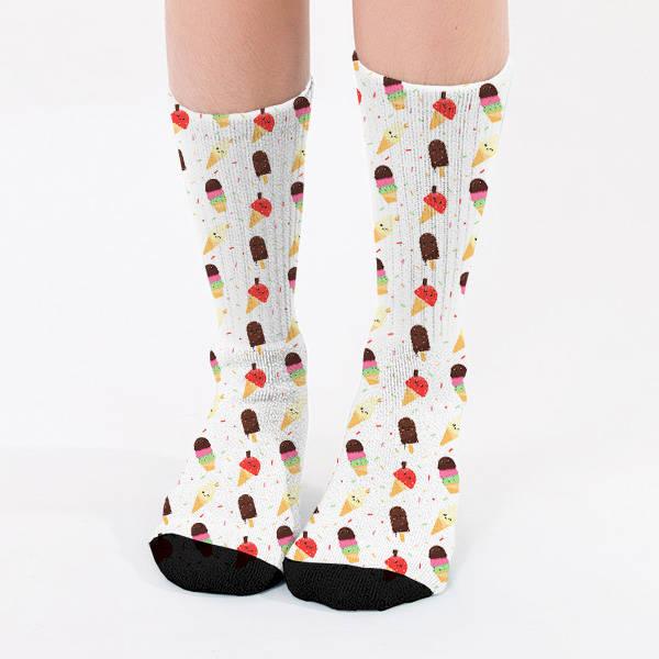 Külah Dondurma Tasarımlı Kadın Çorap
