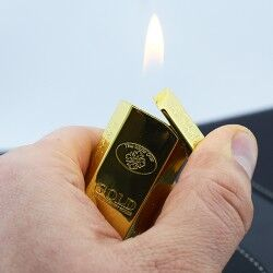 Külçe Altın Şeklinde Çakmak - Thumbnail