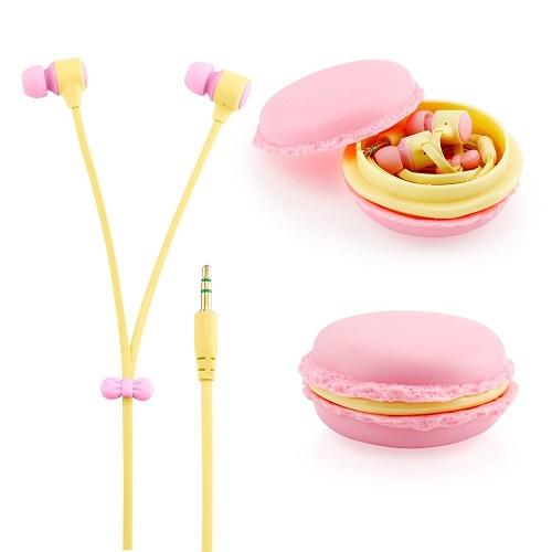 Kurabiye Şeklinde Macarons Kulaklıklar