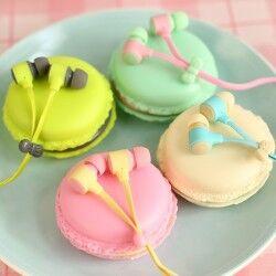 - Kurabiye Şeklinde Macarons Kulaklıklar