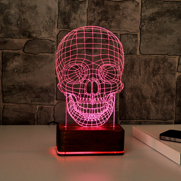 Kuru Kafa 3 Boyutlu LED Gece Lambası