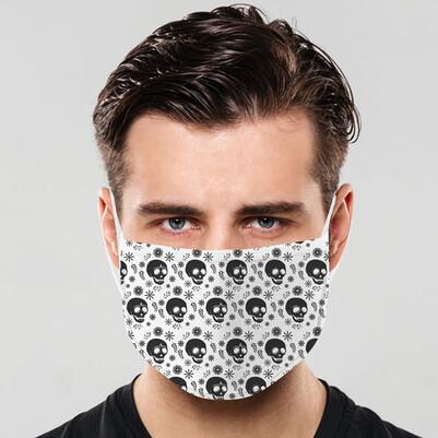 Kuru Kafa Tasarım Yıkanabilir Maske - Thumbnail
