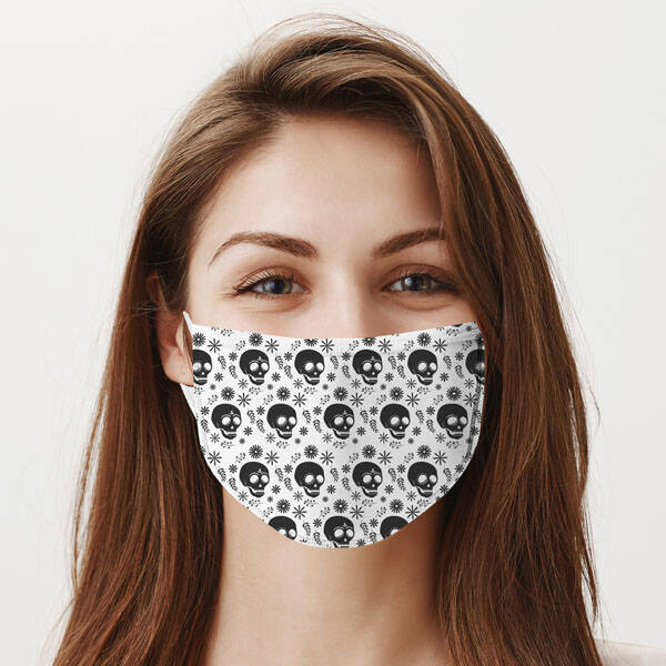 Kuru Kafa Tasarım Yıkanabilir Maske