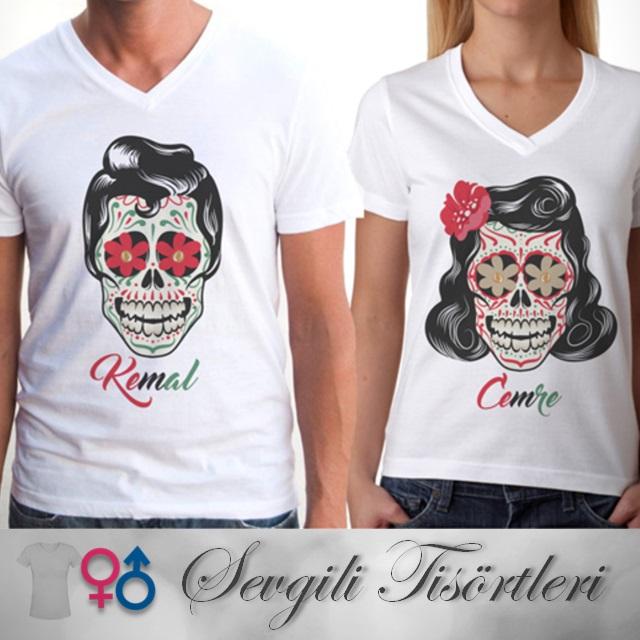 Kuru Kafa Tasarımlı Sevgili Tişörtleri