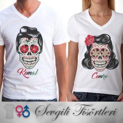 Kuru Kafa Tasarımlı Sevgili Tişörtleri - Thumbnail