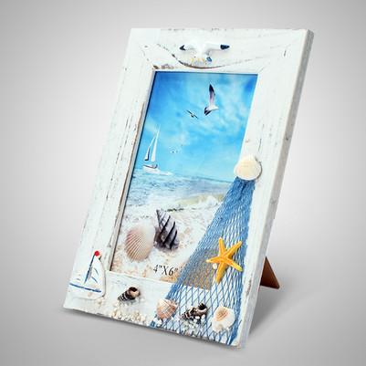 - Kuşlar Uçuyor Dekoratif Marine Çerçeve