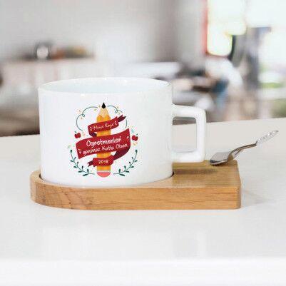 - Kutlama Mesajlı Öğretmen Çay Fincanı