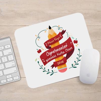 - Kutlama Mesajlı Öğretmene Özel Mouse Pad